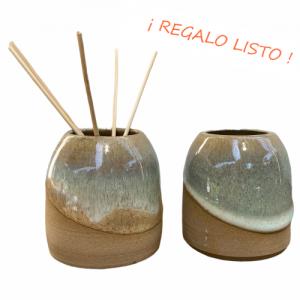 «AROMA POD»,esmalte color Duna con varillas de Bambú